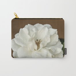 Lovely White Flower Carry-All Pouch