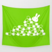 pills Wall Tapestries featuring Crazy pills by flydesign