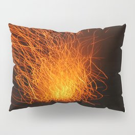 Golden Firework Pillow Sham