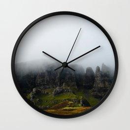 Quiraing In The Mist Wall Clock