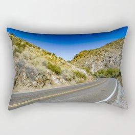 Highway Road Cutting through the Mountains in the Anza Borrego Desert, California, USA Rectangular Pillow