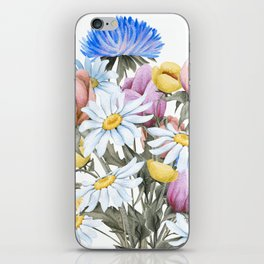 Summer Floral Watercolour Bouquet iPhone Skin