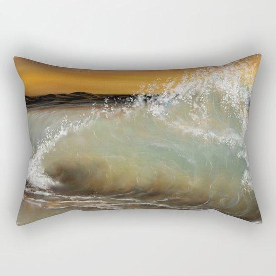 Sea Waves 2 Rectangular Pillow