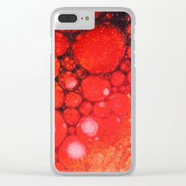 Blood Oil on Water Abstract Clear iPhone Case