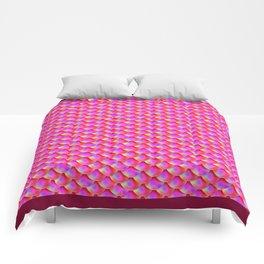 Fish scales Grenadine color type 2  Ocean Color gradient Comforters