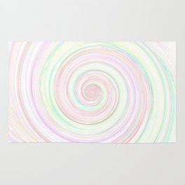 Re-Created Spin Painting by Robert S. Lee  Rug