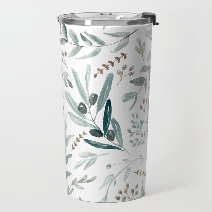 Eucalyptus pattern Travel Mug