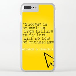 Winston S. Churchill about success Clear iPhone Case