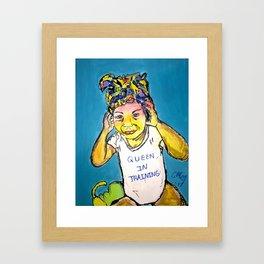 Black Queen in Training Framed Art Print