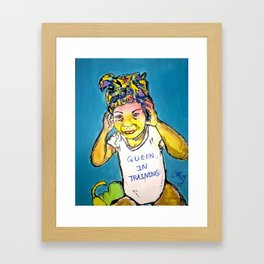 Black Queen in Training Framed Art Print