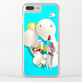 Time bunny girl and clouds Clear iPhone Case
