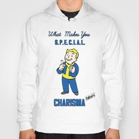 fallout 3 Hoodies featuring Charisma S.P.E.C.I.A.L. Fallout 4 by sgrunfo