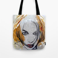 blondie Tote Bags featuring Blondie by Capracotta Art