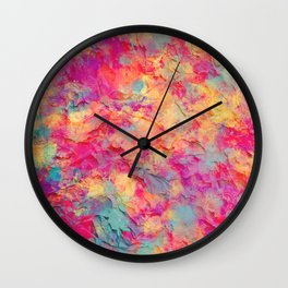 Plastered Memories 7 Wall Clock