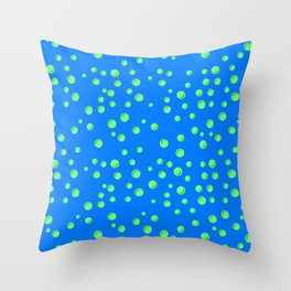 Blue bubble. Blue water. Baby birthday pattern. Throw Pillow
