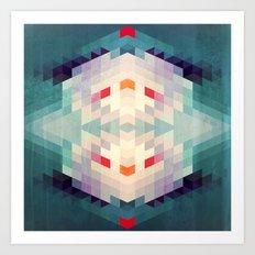 GeoAqua Art Print