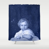 the little prince Shower Curtains featuring Little Prince by VINSPIRO