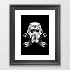 Jolly Biker Framed Art Print