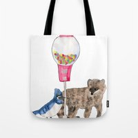 regular show Tote Bags featuring Regular Show by Hard Lily