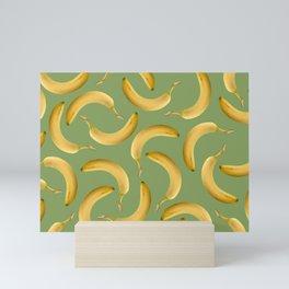 Bananas Pattern - green Mini Art Print