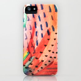 Fun Lovin - a bright watercolor piece iPhone Case