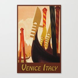 Venice Italy Vintage Travel Canvas Print
