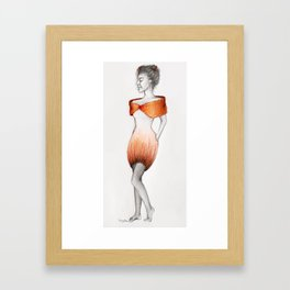 She'll eat your Heart out Framed Art Print