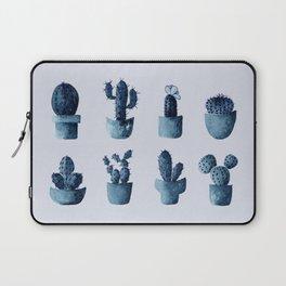 One cactus six cacti in indigo blue Laptop Sleeve