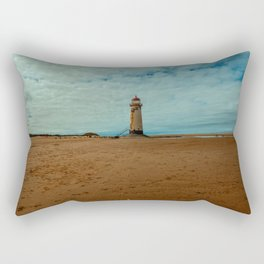 Point of Ayr Lighthouse Rectangular Pillow