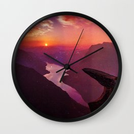 Trolltunga Romantic Hopeful Light Tunnel Dark Fantasy Shape  Wall Clock