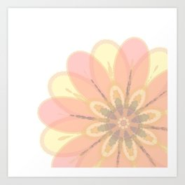 Abstract Floral Card Art Print