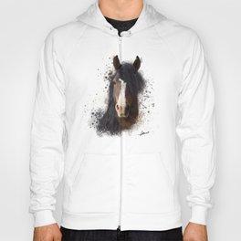 Black Brown Horse Artwork Hoody