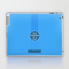 Stop pretending art is hard (blue) Laptop & iPad Skin