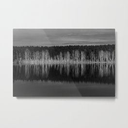 Idyllic summer landscape with crystal clear lake Metal Print