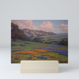 Poppies & Lupine Near Santa Paula, California by John Marshall Gamble Mini Art Print