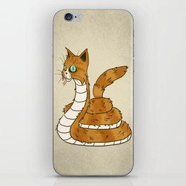 Cat Snake iPhone Skin