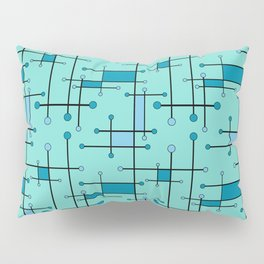 Intersecting Lines in Mint and Blues Pillow Sham