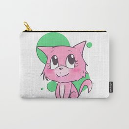 Pink Cat Carry-All Pouch