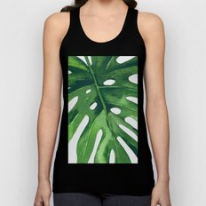 Monstera Leaf Unisex Tank Top