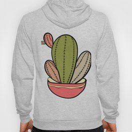 Cactus vector illustration. Hand drawn. Cactus plants nature element Hoody