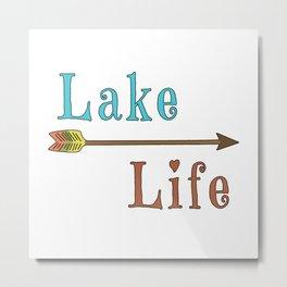Lake Life - Summer Camp Camping Holiday Vacation Gift Metal Print