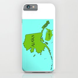 Alaska and the Lower 48 Forty-eight iPhone Case