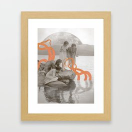 Doris' Daughters and the Kraken Framed Art Print