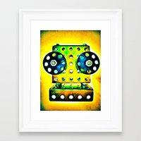 dj Framed Art Prints featuring DJ by Yukska
