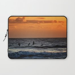 Four Pelicans at Sunrise Laptop Sleeve