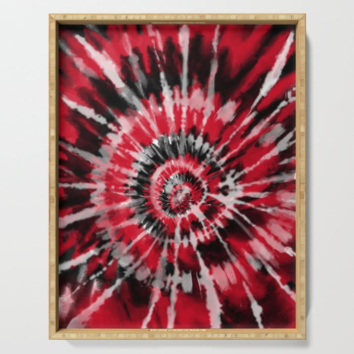 Red Tie Dye Serving Tray