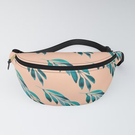 Watercolor Leaves Pattern Fanny Pack