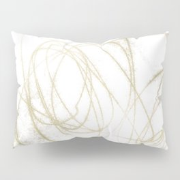 Beige and Brown Minimalist Abstract Line Drawing Pillow Sham