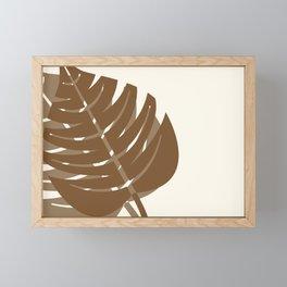 Brown Fern Leaves Framed Mini Art Print
