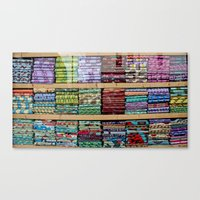 fabric Canvas Prints featuring FABRIC by Louisa Rogers
